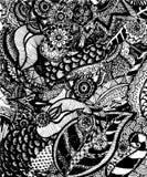 Abstrakta deseniowy wektor linie royalty ilustracja