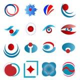 Abstrakta designbeståndsdelar vektor illustrationer