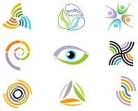 Abstrakta designbeståndsdelar och symboler Royaltyfri Foto