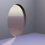 abstrakta drzwi na róg owalne Obrazy Stock