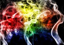 Abstrakta dym na ciemnym tle Obraz Royalty Free