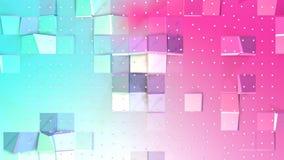 Abstrakta enkla blåa rosa låga poly vita kristaller för yttersida 3D och för flyg som företags bakgrund Mjukt geometriskt lågt po vektor illustrationer
