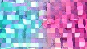 Abstrakta enkla blåa rosa låga poly vita kristaller för yttersida 3D och för flyg som geometriskt ingrepp Mjukt geometriskt lågt  stock illustrationer