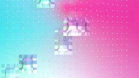 Abstrakta enkla blåa rosa låga poly vita kristaller för yttersida 3D och för flyg som idérik bakgrund Mjukt geometriskt lågt poly vektor illustrationer