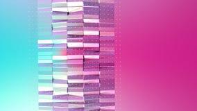 Abstrakta enkla blåa rosa låga poly vita kristaller för yttersida 3D och för flyg som overkligt landskap Mjukt geometriskt lågt p vektor illustrationer