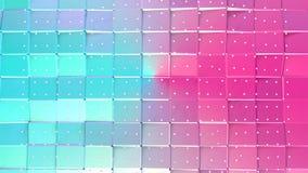 Abstrakta enkla blåa rosa låga poly vita kristaller för yttersida 3D och för flyg som storartad bakgrund Mjukt geometriskt botten vektor illustrationer