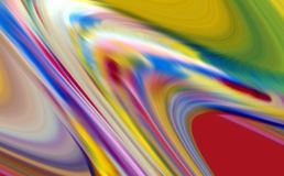 Abstrakta färglinjer, livliga våglinjer, abstrakt bakgrund för kontrast arkivfoto