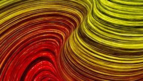 Abstrakta färglinjer slösar och gör grön illustrationen 3d royaltyfri illustrationer