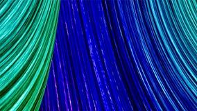 Abstrakta färglinjer slösar och gör grön illustrationen 3d Royaltyfri Bild