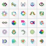 Abstrakta färgrika designbeståndsdelar och symbol Fotografering för Bildbyråer