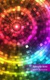 Abstrakta färgrika diskoljus tunnel vektor Royaltyfria Bilder