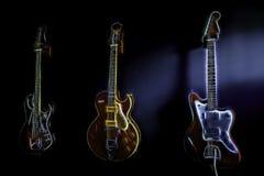 Abstrakta färgrika elektriska Guitarsn fotografering för bildbyråer