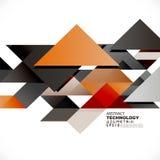 Abstrakta färgrika geometriska och moderna överlappande trianglar Arkivbilder