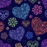 Abstrakta färgrika hjärtor Royaltyfri Bild