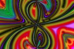 Abstrakta färgrika krökta linjer och vågor royaltyfri illustrationer