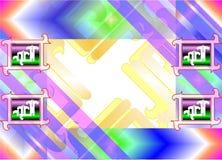 Abstrakta färgrika prydnader Arkivfoton