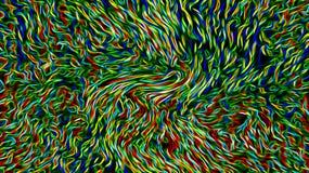 Abstrakta färgrika trådar & kabel royaltyfri illustrationer