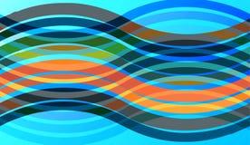 Abstrakta färgrika vågor och modeller stock illustrationer
