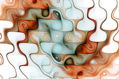 Abstrakta färgrika vågor på vit bakgrund Arkivbilder