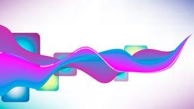 Abstrakta för blått och violetta för vektor krabba linjer för bakgrund, med fyrkanter Fotografering för Bildbyråer