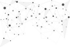Abstrakta förbindande prickar och linjer Anslutningsvetenskap och techn royaltyfri illustrationer