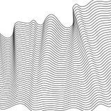 Abstrakta falowy element dla projekta Stylizowany kreskowej sztuki tło również zwrócić corel ilustracji wektora Wyginająca się fa zdjęcia stock