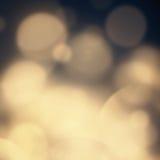 Abstrakta festliga runda reflexioner av julljus - defo Arkivfoto