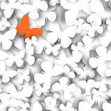 Abstrakta fjärilar för papper 3D Arkivfoton