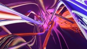 Abstrakta flödande färgrika linjer Loopable royaltyfri illustrationer