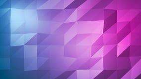 Abstrakta flerfärgade blått, purpurfärgad Polygonal bakgrund Triangulär abstrakt textur med lutning Royaltyfri Fotografi