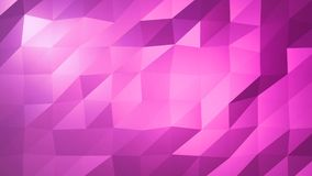 Abstrakta flerfärgade lilor, rosa Polygonal bakgrund Triangulär abstrakt textur med lutning Arkivbilder