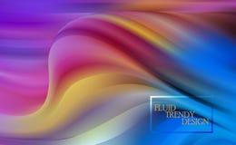 Abstrakta fluid idérika mallar, kort, färgräkningar ställde in Pastell- och neondesign, grafisk form för geometrisk vätska, in stock illustrationer