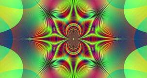 Abstrakta fractal szybki tętniący kolorowy wideo z szczegółowi łączący łuki i centrala gra główna rolę ilustracji