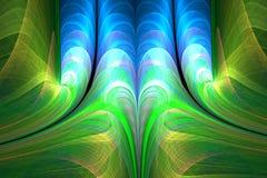 Abstrakta fractalvågor Arkivfoto