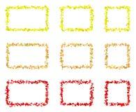 Abstrakta färgrika rektangelramar som göras av små fyrkanter Royaltyfria Foton