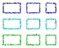 Abstrakta färgrika rektangelramar som göras av små fyrkanter Arkivbild