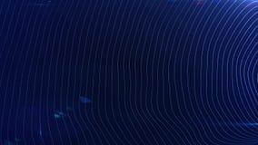 Abstrakta futuristiska digitala blått vinkar bakgrund, krabb livlig yttersidaögla begrepp av digitalt iternetutrymme royaltyfri illustrationer