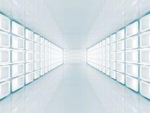 Abstrakta futuristiska Hall Architecture Background vektor illustrationer