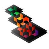 Abstrakta fyrkantiga geometriska former Royaltyfri Fotografi