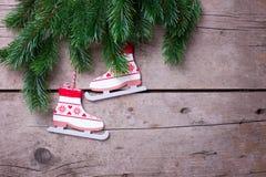 abstrakta gałąź bożych narodzeń dekoracj świąteczna ramy świerczyna Obrazy Royalty Free