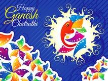 Abstrakta ganesh chaturthi szczegółowy tło Fotografia Stock