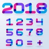 Abstrakta genomskinliga nummer Arkivfoton