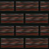 Abstrakta Geo gör randig sömlös svart och apelsinen Fotografering för Bildbyråer