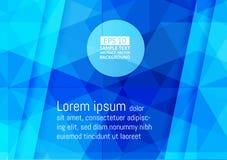 Abstrakta geometriska blått färgar modern futuristisk bakgrund för teknologi, vektorillustration stock illustrationer