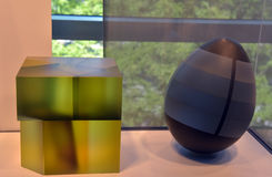 Abstrakta geometriska diagram för exponeringsglas Royaltyfri Bild