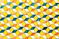 Abstrakta geometriska färgrika marockanska portugisiska tegelplattor, Azulejo, Royaltyfri Foto
