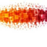 Abstrakta geometriska fyrkantlinjer apelsinbakgrund Arkivfoton