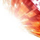 Abstrakta geometriska fyrkantlinjer apelsinbakgrund Royaltyfri Fotografi