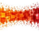 Abstrakta geometriska fyrkantlinjer apelsinbakgrund Royaltyfri Foto