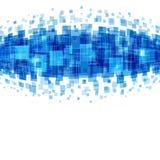 Abstrakta geometriska fyrkantlinjer blå bakgrund Fotografering för Bildbyråer